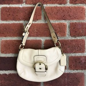 Coach Soho Small Shoulder Bag Pebble Leather Gold